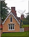 TL6030 : Almshouses and windmill, Thaxted by Julian Osley