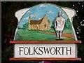 TL1490 : Village sign, Folksworth by Bikeboy