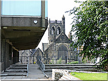 NS4863 : Renfrewshire House and Paisley Abbey by Thomas Nugent