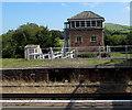 SZ6086 : Brading railway station signalbox by Jaggery