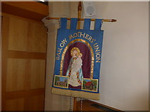 SK2572 : St Anne, Baslow: banner by Basher Eyre