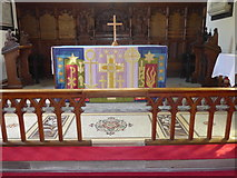 SK2572 : St Anne, Baslow: altar by Basher Eyre