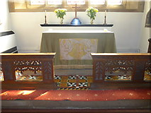SK2071 : St Giles, Great Longstone: main altar by Basher Eyre