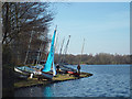 SP1095 : Preparing to sail on Powell's Pool, Sutton Park by Robin Stott