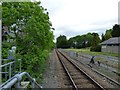 SH7956 : The line to Llandudno out of Betws-y-Coed by Gerald England