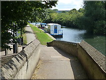 TQ1579 : Towpath crossing the River Brent by Mat Fascione