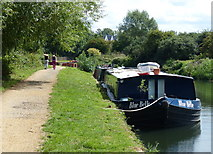 TQ1579 : Boats moored along the Grand Union Canal by Mat Fascione