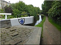 SE0511 : Blue Peter (TV show) badge on the lock gate by Steve  Fareham