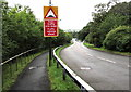SN5602 : Traffic calming ahead, Llangennech by Jaggery
