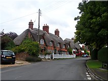 SP7330 : Cottages and the Pure Fleece pub, Adstock by Bikeboy