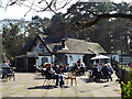 SP1097 : The Boathouse pub-restaurant and terrace overlooking Bracebridge Pool, Sutton Park by Robin Stott