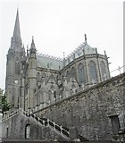 W7966 : Steps and St. Colman's Cathedral by Jonathan Thacker
