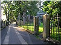 NY1230 : Path by All Saints Church in Cockermouth by Andrew Tryon