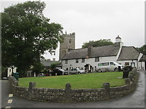SX5467 : Meavy village green by Peter S