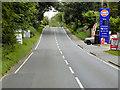 TF8823 : Southbound A1065, South Raynham Service Station by David Dixon