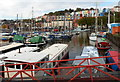 ST5772 : Colourful houses north of Bristol Marina by Jaggery