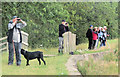 SP9013 : A Flock of excited Bird Watchers at Wilstone Reservoir by Chris Reynolds
