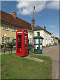 TM1763 : Telephone Box & Debenham Village Notice Board by Adrian Cable