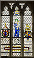 SK5739 : Bluecoat window, St Peter's church, Nottingham by Julian P Guffogg