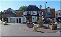 TQ1667 : Roundabout on Thames Ditton High Street by Mat Fascione
