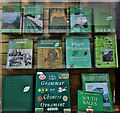 "SX9688 : Topsham: Fore Street: A ""green display"" in The Topsham Bookshop by Michael Garlick"