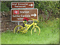 NY5733 : The yellow bikes of Langwathby (18) by Oliver Dixon