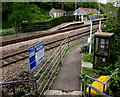 ST8060 : Path to platform 1, Avoncliff railway station by Jaggery