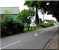 SO3700 : White arrow on the Llanbadoc road, Usk by Jaggery