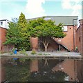SJ9397 : Private patio by the Ashton Canal by Gerald England