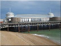 TQ8109 : Hastings pier café construction by Oast House Archive