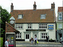 TG0738 : The Railway Hotel, Holt Market Place by David Dixon