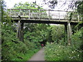 NY0230 : Timber Footbridge over a Disused Railway by Andrew Tryon