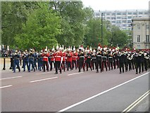 TQ2879 : Military bands parade to remember the 1982 Hyde Park bombing, London by Robin Stott