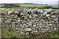 NY5906 : Junction of walls beside minor road near Brackenhall by Roger Templeman