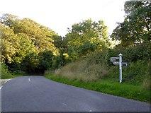 SX8979 : Beggar's Bush road junction by David Smith