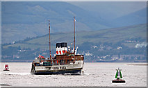 NS3175 : PS Waverley passing Port Glasgow by Thomas Nugent