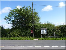 SO9559 : Earl's Common notice board and post box by Jeff Gogarty