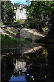 NU0702 : Cragside viewed from below the footbridge by Philip Halling
