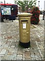 SU4806 : Olympic gold postbox by Alex McGregor