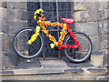 NY9364 : The stripey bikes of Hexham (5) by Oliver Dixon