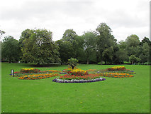 SE3238 : Flower beds in Roundhay Park by Stephen Craven