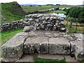 NY7166 : North gate of Milecastle 42 at Cawfields by Andrew Curtis
