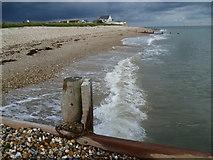 SZ8592 : Beach at Selsey Bill by Marathon