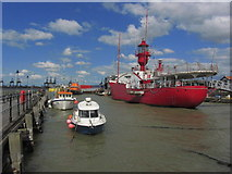 TM2532 : Harwich - Lightship LV18 as seen from Ha'penny Pier by Colin Park