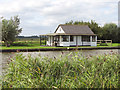 TG3915 : Chalet beside the River Thurne by Evelyn Simak