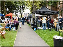 SJ8588 : Loose Change Buskers in Cheadle by Gerald England