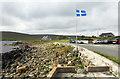 HP6312 : Shetland Flag, Haroldswick by Des Blenkinsopp