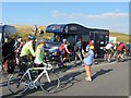 NY6441 : Team Wiggins bus at Tour of Britain by Andrew Curtis