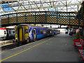 NY4055 : A Glasgow bound train at Carlisle by John Lucas