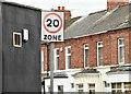 J3673 : 20 mph speed limit sign, Beersbridge Road, Belfast (September 2015) by Albert Bridge